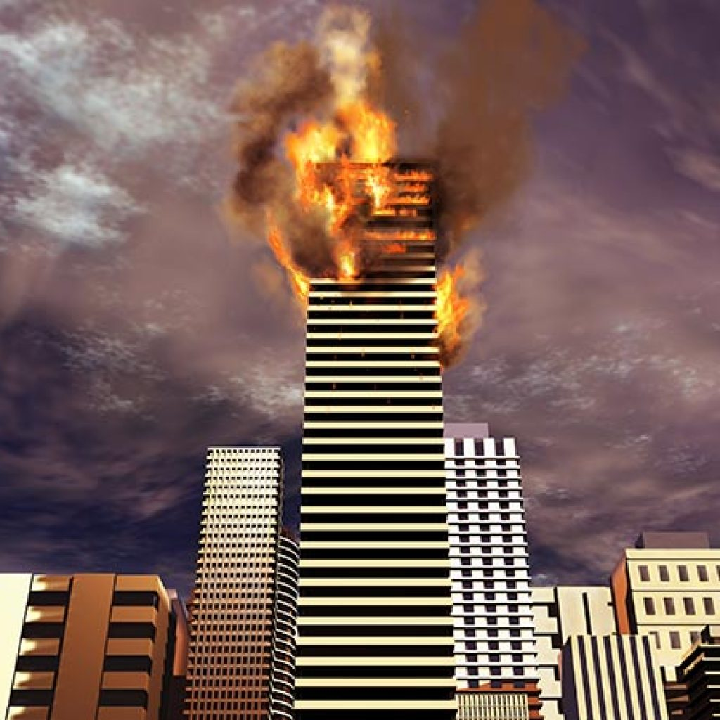 high rise fire